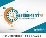 assessment concept on target... | Shutterstock .eps vector #558471286