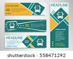 bus icon on horizontal and... | Shutterstock .eps vector #558471292