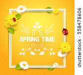 its spring time. spring... | Shutterstock .eps vector #558478606