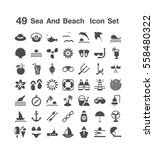 49 sea and beach icon set  | Shutterstock .eps vector #558480322