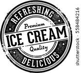 vintage ice cream dessert stamp | Shutterstock .eps vector #558484216