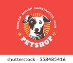 dog head logo   vector... | Shutterstock .eps vector #558485416