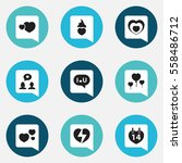 set of 9 editable passion icons.... | Shutterstock . vector #558486712