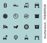 set of 16 editable traffic... | Shutterstock .eps vector #558489028