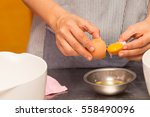 Hands Holding Egg Shell With...