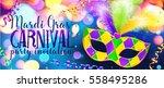 traditonal colors carnival mask ... | Shutterstock .eps vector #558495286