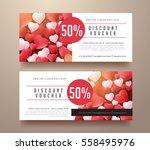 gift voucher discount template... | Shutterstock .eps vector #558495976