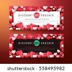 gift voucher discount template... | Shutterstock .eps vector #558495982
