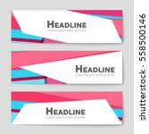 abstract vector layout... | Shutterstock .eps vector #558500146
