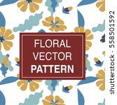 floral vector pattern design...   Shutterstock .eps vector #558501592