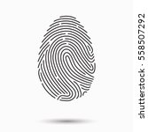fingerprint scan icon | Shutterstock .eps vector #558507292