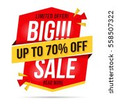 big sale banner  modern red... | Shutterstock .eps vector #558507322