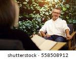 handsome successful male... | Shutterstock . vector #558508912