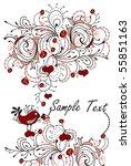 comic romantic background of... | Shutterstock .eps vector #55851163
