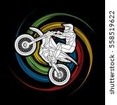 Motorcycle Cross Jumping...