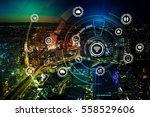 smart city and wireless... | Shutterstock . vector #558529606