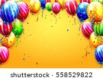 luxury party balloons and... | Shutterstock .eps vector #558529822
