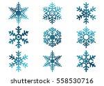 snowflake vector icon... | Shutterstock .eps vector #558530716