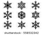snowflake vector icon... | Shutterstock .eps vector #558532342