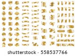gold ribbon banner label vector ... | Shutterstock .eps vector #558537766