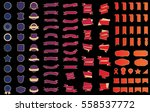 ribbon banner label vector... | Shutterstock .eps vector #558537772