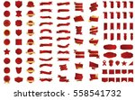 red banner ribbon label vector...