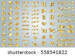 gold banner ribbon label vector ... | Shutterstock .eps vector #558541822