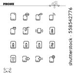 phone flat icon set. collection ... | Shutterstock .eps vector #558542776