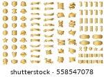 gold label ribbon banner vector ... | Shutterstock .eps vector #558547078