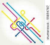 arrows background vector... | Shutterstock .eps vector #55854787