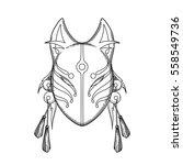graphic mask of japanese demon... | Shutterstock .eps vector #558549736