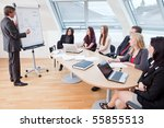 big meeting at the round table... | Shutterstock . vector #55855513
