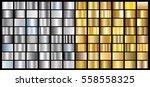 gold silver gradient background ... | Shutterstock .eps vector #558558325