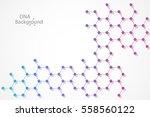 abstract dna background. vector ... | Shutterstock .eps vector #558560122