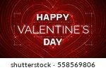 happy valentine day. vector... | Shutterstock .eps vector #558569806