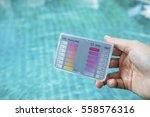 water test kit over blue...   Shutterstock . vector #558576316