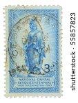 usa   circa 1950  a stamp... | Shutterstock . vector #55857823