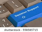keyboard with key for decision... | Shutterstock . vector #558585715