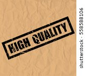 high quality text rubber seal... | Shutterstock .eps vector #558588106
