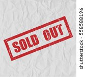 sold out text rubber seal stamp ... | Shutterstock .eps vector #558588196