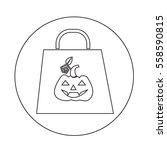 halloween pumpkin icon | Shutterstock .eps vector #558590815