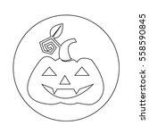 halloween pumpkin icon | Shutterstock .eps vector #558590845
