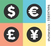 money symbols vector... | Shutterstock .eps vector #558597496