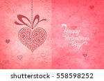 beautiful pink valentines day... | Shutterstock . vector #558598252