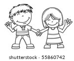 happy children | Shutterstock .eps vector #55860742