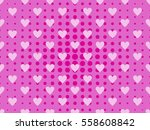 seamless pattern with hearts... | Shutterstock .eps vector #558608842