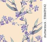 field flowers seamless pattern. ... | Shutterstock . vector #558609142