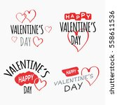 valentine's day labels set ... | Shutterstock .eps vector #558611536