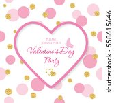valentine's day invitation... | Shutterstock .eps vector #558615646
