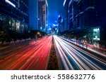 hong kong city street view at... | Shutterstock . vector #558632776